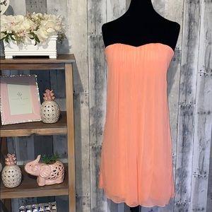Alice + Olivia Strapless Coral Dress